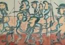 Fiesta der Eitelkeiten-2018-Triptychon-162x390-Mischtechnik-Leinwand-800