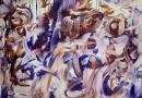 Robot Party-2014-89x116-Mischtechnik auf Leinwand